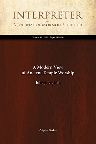 Cover of A Modern View of Ancient Temple Worship