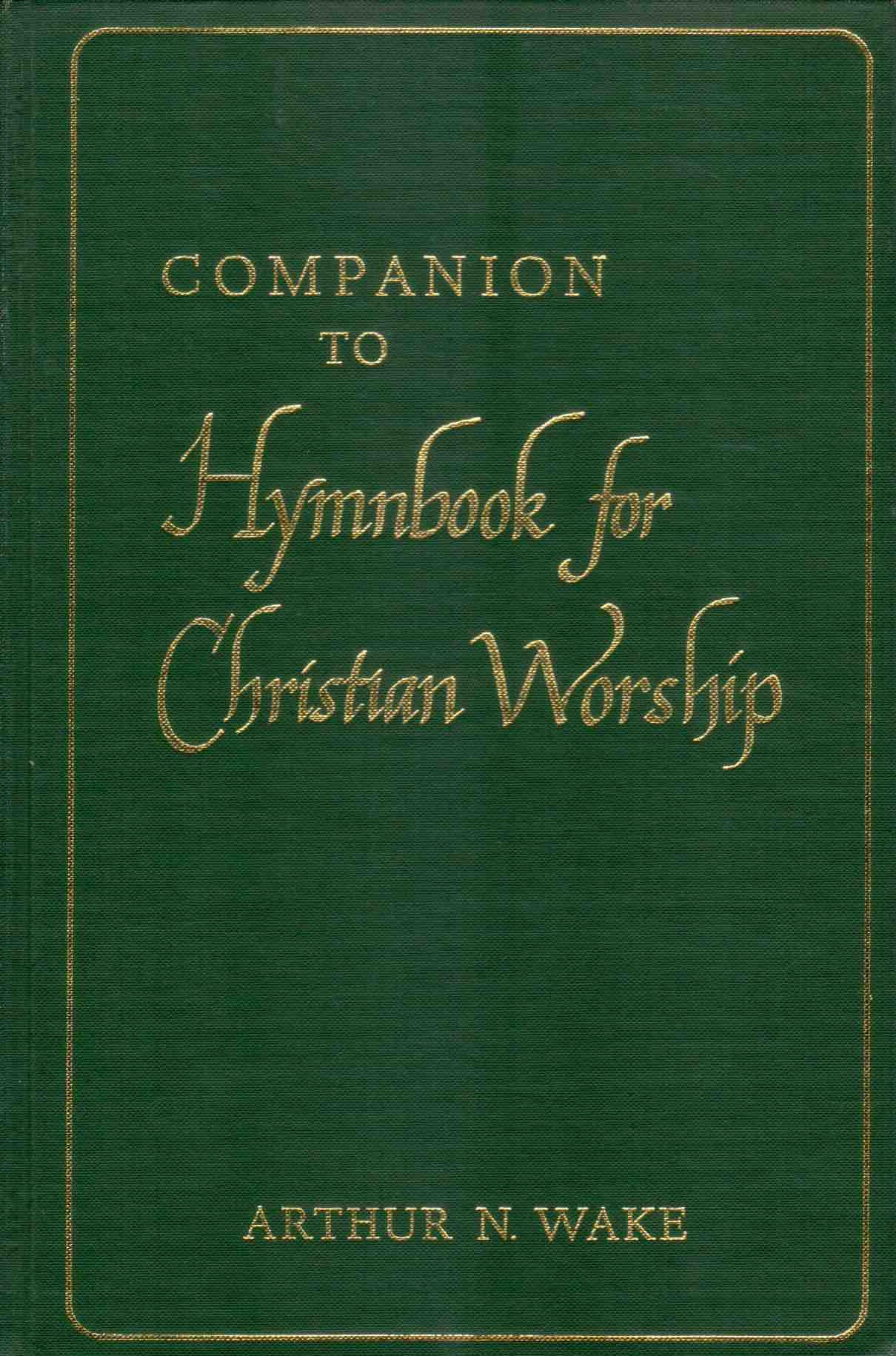 Cover of Companion to Hymnbook for Christian Worship