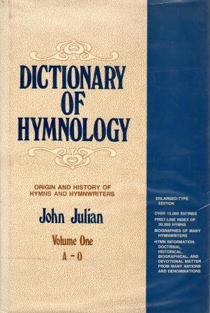 Cover of Dictionary of Hymnology Volume One