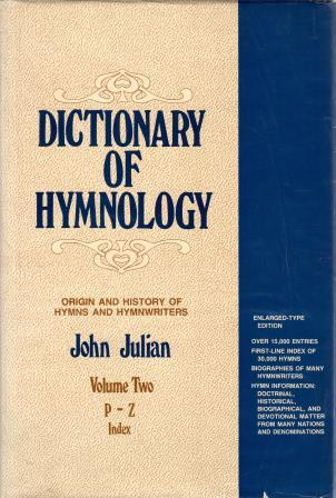 Cover of Dictionary of Hymnology Volume Two