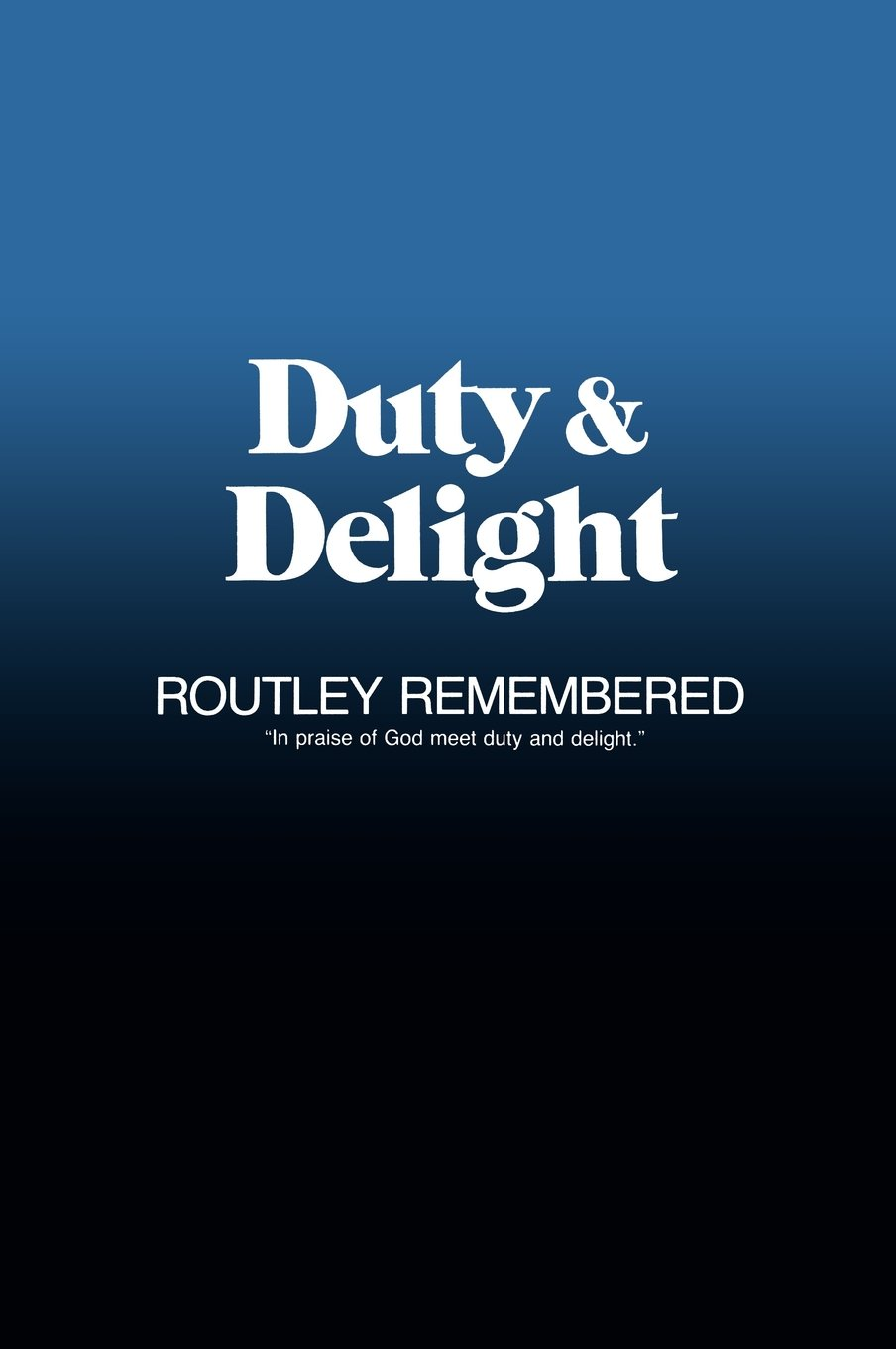 Cover of Duty and Delight